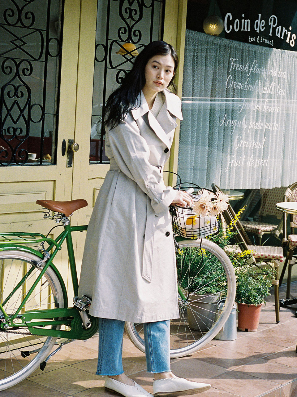 Long Basic Trench Coat_Grey Beige