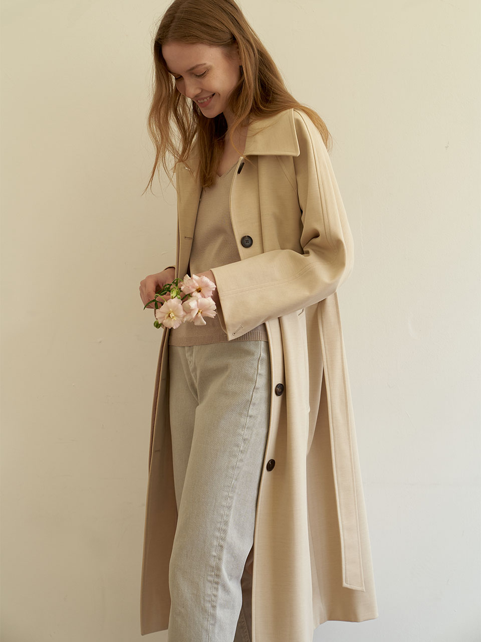 Long Mac Coat_Yellow Beige