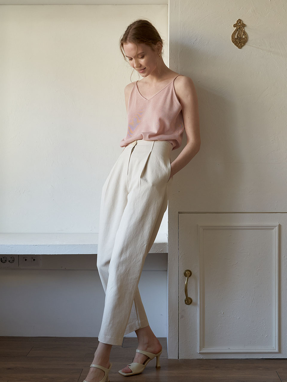 Basic Cotton Pants_Ivory